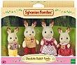 Conjunto de 4 minimuñecos, Familia Conejos Chocolate, SYLVVANIAN FAMILIES.  Sylvanian Families
