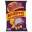 Patatas fritas onduladas jamon Paquete 212 g Ruffles