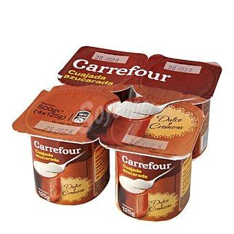 Carrefour Cuajada natural azucarada Pack de 4x125 g