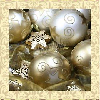 Papstar Servilletas decorado bolas de Navidad 33x33cm Paquete 20 unidades