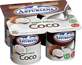 Central Lechera Asturiana Yogurt sabor coco asturiana Pack 4