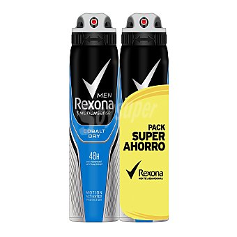 Rexona Men cobalt dry desodorante spray 2x200 ml 2x200 ml