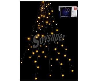 Actuel Luces de navidad especiales para la decoración de abetos, con 160 leds y luz fija de color amarillo ACTUEL.