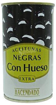 Hacendado Aceituna negra con hueso manzanilla Lata 185 g escurrido