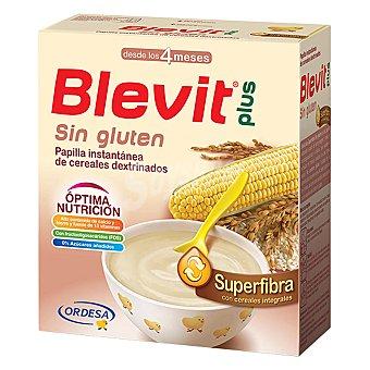 Blevit Papilla infantil desde 5 meses de cereales sin azúcar añadido plus Superfibra sin gluten 600 g
