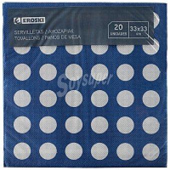 Eroski Servilletas turquesa-azul 33x33 Paquete 20 unid