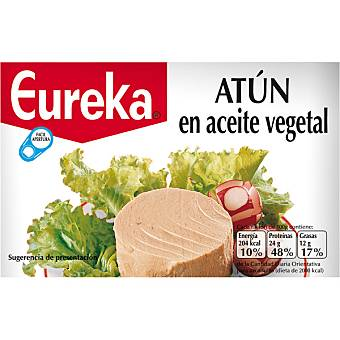 Eureka atún en aceite vegetal lata 240 g neto escurrido