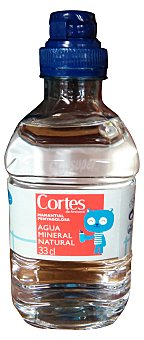 CORTES Agua mineral natural (tapon especial niños) Botellin 330 cc