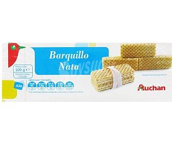 Auchan Barquillos Sabor Nata 200 Gramos