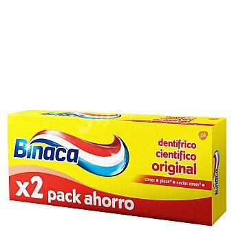 Binaca Dentífrico Antiplaca Amarillo Duplo Pack de 2 unidades de 75 ml