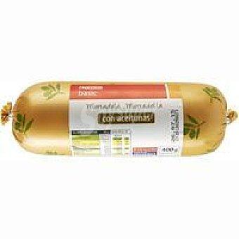 Eroski Basic Mortadela con aceitunas 400 g