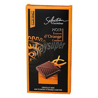 Carrefour Selección Chocolate negro naranja 100 g