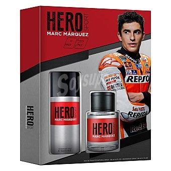 Marc Márquez Estuche de colonia Hero Sport 100 ml.+ desodorante 150 ml. 1 ud 1 ud