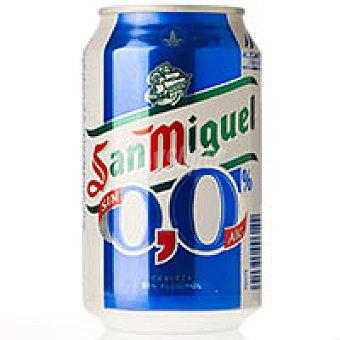 San Miguel Cerveza 0,0% sin alcohol Lata 330 ml