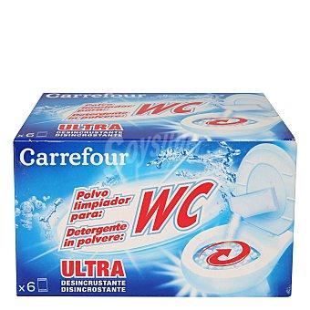 Carrefour Limpiador en polvo para WC 6 ud