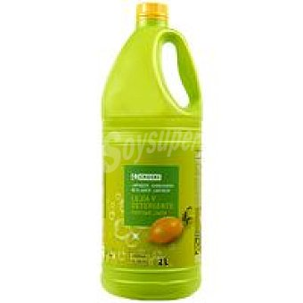 Eroski Lejía con detergente limón Garrafa 2 litros