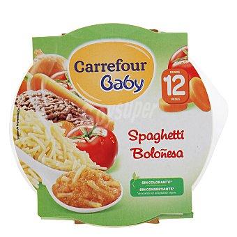 Carrefour Baby Plato de spaguetti boloñesa 230 g