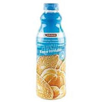 Eroski Zumo de mandarina natural Botella 1 litro