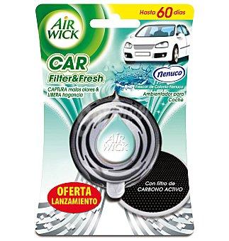 Air Wick ambientador de coche Frescor de Colonia Nenuco aparato + recambio con filtro de carbono activo 1 ud