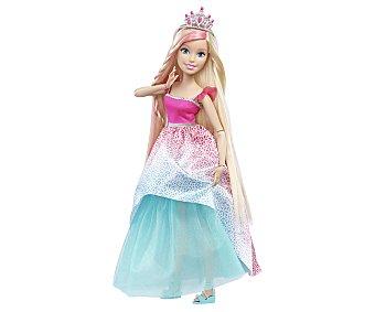 Barbie Muñeca Princesa Barbie de 43 centímetros de altura y larguísima melena, incluye accesorios 1 unidad