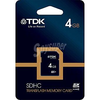 TDK Travel Tarjeta de memoria sdhc Clase 4 de 4 GB
