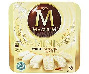 FRIGO MAGNUM Mini White y Almond White helado de vainilla con chocolate blanco estuche 360 ml 6 unidades