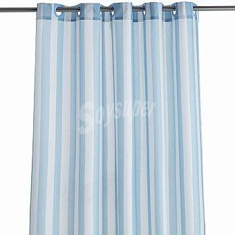 CASACTUAL Ana cortina de baño con rayas azules