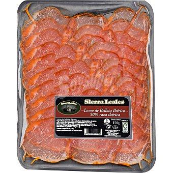 Sierra leales Lomo de bellota ibérico 50% raza ibérica sin gluten Envase 150 g