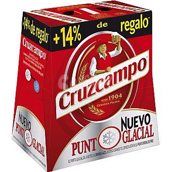 Cruzcampo cerveza rubia nacional pack 6 botella 28,5 cl