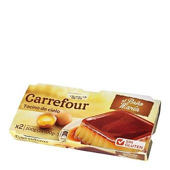 Carrefour Tocino del cielo - Sin Gluten Pack 2x100 g