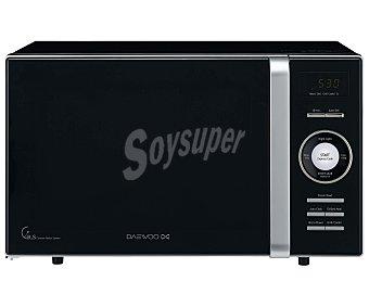 DAEWOO KOG-8A6K Microondas con grill, color negro, capacidad 23 litros, potencia: 800w, grill: 1000w, ancho: 46,5cm, alto: 28,7cm 23 litros