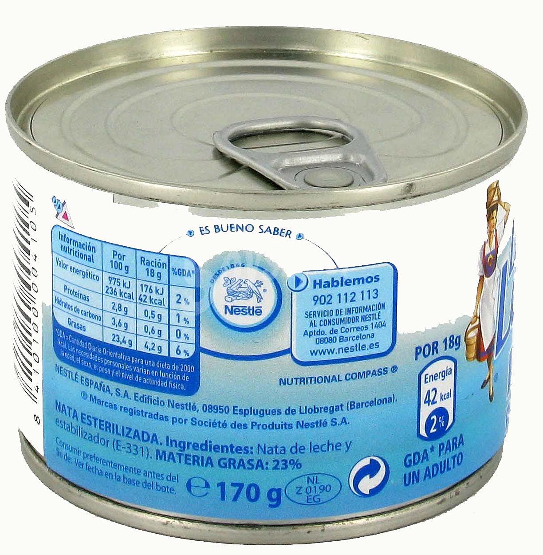La lechera nestl nata para cocinar esterilizada 170 gramos for Nata para cocinar mercadona