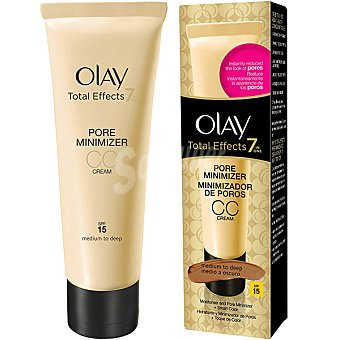 Olay Total Effects CC Cream 7 en 1 hidratante y minimizador de poros + toque de color SPF-15 dosificador 50 ml medio a oscuro Dosificador 50 ml