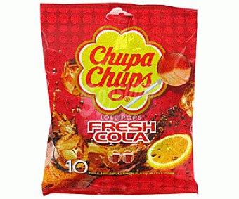 Chupa Chups Caramelo Palo Cola 10 Unidades 130 Gramos