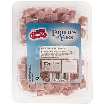 Campofrío Jamon york en taquitos Pack de 2x100 g
