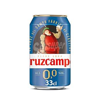 Cruzcampo Cerveza sin alcohol Lata de 33 cl