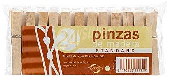 PMR Pinzas para la ropa de madera Paquete 24 unidades