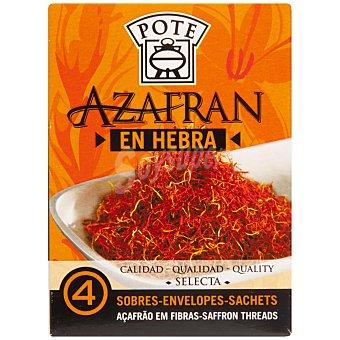 Pote Azafrán en Hebra 4 sobres de 100 mg