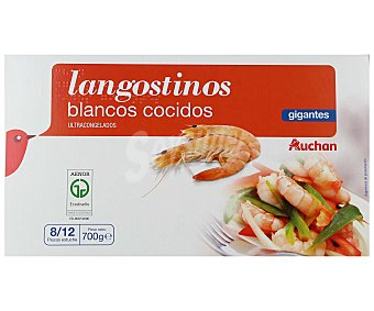 Auchan Langostinos cocidos gigantes 8/12 ultracongeldos 700 g