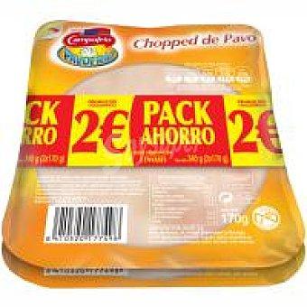 Campofrío Chopped pavo lonchas Pack de 2x160 g