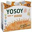 Bebida de avena pack 3x250 ml Yosoy