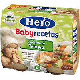 HERO R. Casera Tarrito de ternera a la jardinera Pack 2x190 g