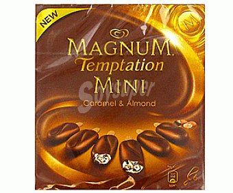 MAGNUM de FRIGO Mini Magnum Temptation Caramelo y Almendra 6 Unidades de 50 Mililitros 6x50ml