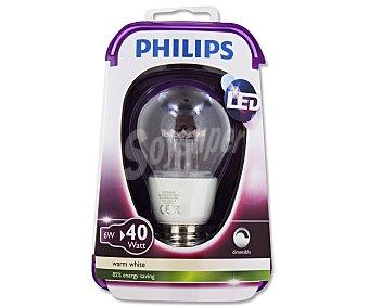 Philips Bombilla esférica led 6W, con casquillo E27 (grueso) y luz cálida 1 unidad