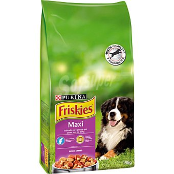 Friskies Purina Alimento rico en carne para perros adultos Life Plus Nutrition Maxi Bolsa 15 kg
