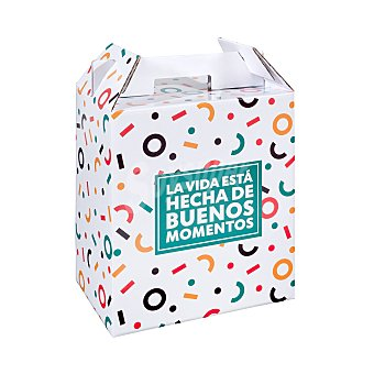 Alcograf Caja carton para lotes (mensaje momentos) (medidas 30x20x35 cm) 1 unidad