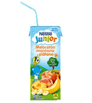 Nestlé Smoothie junior melocotón, manzana y plátano 200 ml