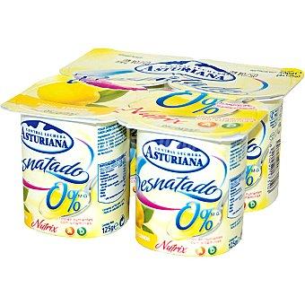 Central Lechera Asturiana Yogur desnatado limón Pack 4x125 g