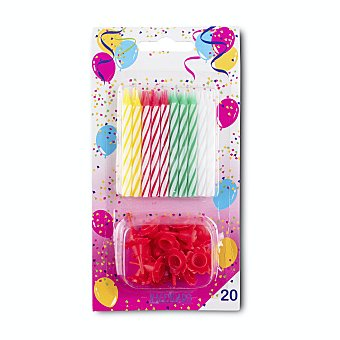 Hacendado Vela cumpleaños Paquete 20 u