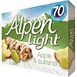 Light barritas de cereales con manzana y uva 5 unidades Estuche 95 g Alpen